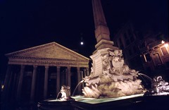 1994-08-18 Pantheon 2 (MicdeF) Tags: dia diapositive night nightphoto notturno pantheon romadinotte rome scan scanner scansione slide