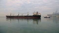 021 -1crp1stpfvib (citatus) Tags: freighter isolda tugboat ocean gauthier eastern gap toronto canada harbour harbor spring morning 2019 pentax k5 ii