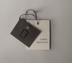 Free Label Brand Mockup (tinydesignr) Tags: label tag