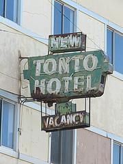 New Tonto Hotel (jimsawthat) Tags: rust metalsign neon vintagesign hotel vintagehotel smalltown globe arizona