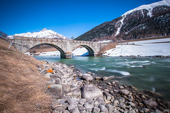 The Bridge (schofz) Tags: schanf schweiz switzerland engadin graubünden brücke bridge fluss langzeitbelichtung
