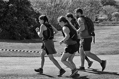Nearly There (alison's daily photo) Tags: runners marathon holyisland lindisfarne northumberland monochrome blackandwhite 100xthe2019edition 100x2019 image43100