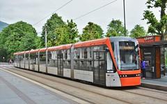 Bergen, Starvhusgaten 10.06.2018 (The STB) Tags: publictransport citytransport öpnv offentligtransport öffentlicheverkehr kollektivtrafikk trikk tram tramway strassenbahn strasenbahn streetcar