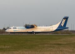 SPP_7918 (Scottish Photography Productions   David Pollock) Tags: asl airlines atr 72 eisoo runway 05 glasgow abbotsinch international airport egpf gla scotland cargo press pr commercial