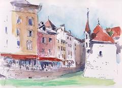 Sketchcrawl Annecy France (m.JaKar) Tags: aquarelle annecy croquis carnetdevoyage canal dessinurbain france hautesavoie insitu sketchcrawl usk urbansketchers vieilleville