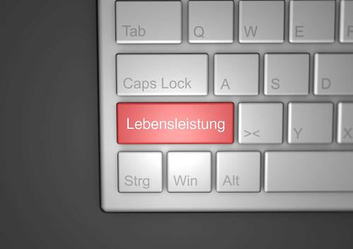 Lebensleistung-auf-Tastatur
