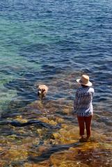 sea_dog (feeblehuman) Tags: australia sea sydney dog lady
