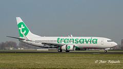 PH-HZI   Boeing 737-8K2 - Transavia (Peter Beljaards) Tags: phhzi nikond5500 boeing7378k2 737 transavia ams eham msn28380 b737 boeing737 cfm567 polderbaan runway18r aviationphotography nikon7003000mmf4556 airplane aircraft jetliner haarlemmermeer 18r schiphol