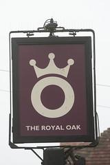 The Royal Oak pub sign Lasham Hampshire UK (davidseall) Tags: the royal oak pub pubs sign signs inn tavern bar public house houses lasham hampshire uk gb british english hanging