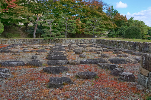 Ancient foundations - Himeji Castle, Himeji, Japan