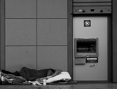 Well done...to all of us... (Michael Kalognomos) Tags: homeless canoneos5dmarkiii ef24105mmf4l street streetstories streetlife streetphotography canon photography bank atm athens greece financialcrisis blackandwhite bw monochrome man people