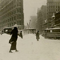 Invierno en la ciudad de Nueva York, 1913. (Txemari - Argazki.) Tags: