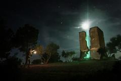 "Light Signals (""meltedcheese"") Tags: night nocturna noche moon luna scifi moody dark subject ruins urbex ruinas lightpainting"