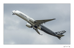 AIRBUS A350 (Francis =Photography=) Tags: airbus a350 paris bourget aircraft vol flight sky ciel nuage cloud engine moteur france europe avion airplane salon expo europa véhicule takeoff 2015