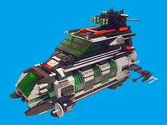 Space Police II Cruiser - Main Picture (Crimso Giger) Tags: lego moc space ship starship spaceship spacepolice spacepolice2 legospacepolice legosp2 legoship legostarship legospaceship legospii brickpirate bpchallenge cruiser spacecruiser legospacemoc legospacepolice2