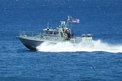 Royal Navy Scimitar Class Patrol Boat HMS Sabre P285 off Catalan Bay, Gibraltar (1) (andrew.dace) Tags: roayl navy scimitar class hms sabre p285 gibraltar