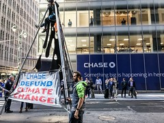 NYC Traffic Shut Down by Activists Protesting Chase Bank Funding Oil Pipelines (Rainforest Action Network) Tags: