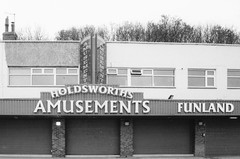 When the fun stops... (Richie Rue) Tags: seaside amusements closed film analogue 35mm foma fomafomapan200 caffenol minolta x300 monochrome blackandwhite bnw ishootfilm istillshootfilm filmsnotdead building architecture