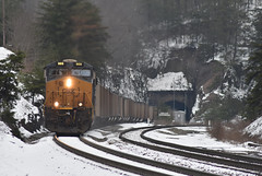 Snow Capped (Tristan_Miller) Tags: csx coal train snow co railway allegheny mountains grade alleghany va virginia