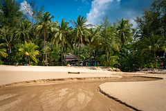 Beach House (Frank KR) Tags: blue trees sea house holiday beach clouds strand sand coconut bluesky palm journey beachhouse sel1670z