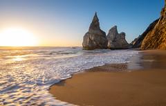 Ursa Sunset (Nikhil Ramnarine) Tags: europe portugal lisbon praiadaursa cabodaroca seastack shoreline seafoam sunset beach hiking travel nikon d500