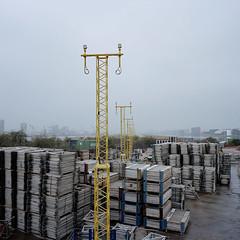 City Airport 03 (andyhallphoto) Tags: mamiya6 mamiyag50mmf4 mediumformat rangefinder 120 6x6 square squareformat analogue film kodakportra portra400 london docklands cityairport