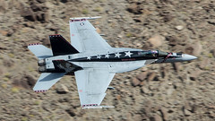CAG F/A-18C of VX-9 Vampires (Pete Fenwick) Tags: vx9 vampires cag fa18c china lake low level rainbow canyon