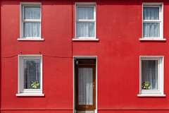 Red House (josullivan.59) Tags: 2019 dingle europe ireland kerry architecture door house minimalism peninsula red street travel wallpaper window