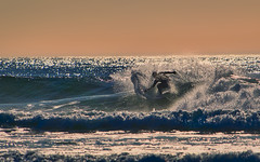 Big Splash (Ray Mines Photography) Tags: bandon beach oregon surf surfer waves tubs riding crest evening sunset ocean water ripcurl tide board wetsuit spray foam sand sea travel outdoors scenery