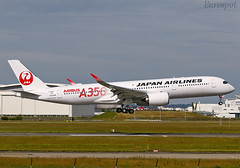 F-WZHF Airbus A350 Japan Airlines (@Eurospot) Tags: fwzhf airbus a350 a350900 ja01xj japanairlines toulouse blagnac