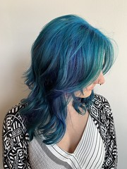 Feeling blue isn't always bad! Color done by Sher