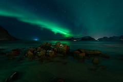 Aurora Borealis in Lofoten Norway (virtualwayfarer) Tags: moskenes nordland norway northernlights aurora lofoten norwegian nordic arcticcircle mountains fjord longexposure nightphotography landscape starphotography astrophotography auroraborealis polarlights astro clearsky peaceful starsstarynight sonyalpha a7rii travel travelphotography travelphotographer adventure adventurephotography northernlatitude roadtrip indietravel wild explore exploring dramaticnature aweinspiring weather calm dancinglight kp3 arctic arcticphotography march snow snowy cold magnetosphere scandinavian mirror reflectionnight moskenesmunicipality nordlandcounty mountain valley sea seaside solarstorm dramatic dramaticlight singleshot alexberger bay seascape ocean arcticsea ytresand sandbotnen