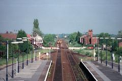 158766, Brough, June 17th 1997 (Southsea_Matt) Tags: 158766 class158 brel sprinter dmu dieselmultipleunit britishrail regionalrailways june 1997 summer unitedkingdom england yorkshire brough train railway railroad transport