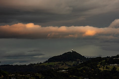 One Cloud Sunset (armct) Tags: sunset reflection cloud bank layer strata altitude mystical colour color mtsomerville radar dome communication airport hilltop hillside residence home evening horizon skyline ambient unique spectacle meteorology weather phenomenon highlight
