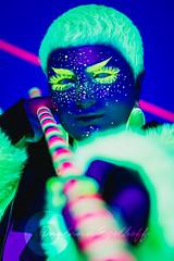 Intergalactic UV (Paulann_Egelhoff) Tags: uv blacklight photography professional alternative paulann paulannegelhoff stellamoschella makeup hairandmakeup art artist glow glowinthedark studio indoors night dark photoshoot color phoenix scottsdale az queer arizona queerart genderqueer instagram facebook pulpriot glitter gogetglitter clubexxclothing club nightclub purple bright