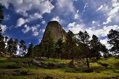 Under Beautiful Blue Skies One Thursday Morning (Devils Tower National Monument) (thor_mark ) Tags: 1558m 5112ft azimuth42 bearlodge bearlodgebutte bearlodgemountains bellefourchelittlemissouriarea blackhills blueskies bluesskieswithclouds boulders butte camranger canvas capturenx2edited cloudwisps colorefexpro day8 devilstower devilstowernationalmonument evergreentrees evergreens grassland grassyarea grassyfield grassymeadow greatplains hillsideofrocksandboulders hillsideoftrees igneousrock imagecapturewithcamranger laccolithicbutte landscape largerocks lookingne mixedgrassprairieecosystem nature nikond800e northamericaplains outside partlycloudy pinusponderosa ponderosapine portfolio prairiegrass prairiegrasses project365 redbedstrail rollinghillsides sunny trees triptodakotas triptodakotasandwyoming wyoming unitedstates
