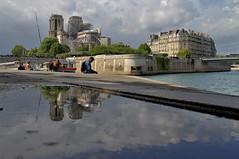 Notre-Dame de Paris (hervétherry) Tags: france iledefrance paris 75005 canon eos 7d efs 18200 notredame cathedrale cathedral seine ile cité incendie travaux echafaudage reflet reflection réflexion quai tournelle