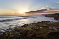 Westcliff_Sunset_Santa Cruz (amymedina.photoart) Tags: seascape sea ocean water waves blue coastal coast nautical shore oceanic santacruz california beams rays sun clouds heavenly sunset seascapes landscapes