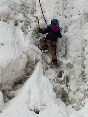 Ice Climbing at Gooseberry Falls (Pictures by Ann) Tags: dogsleddingtrip olivia annbancroftfoundation grant scholarship daretodream outdoorsport exercise sport wintersport iceclimbing gooseberryfalls northshore minnesota mn frozenwaterfall