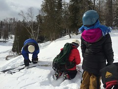 Ice Climbing at Gooseberry Falls (Pictures by Ann) Tags: dogsleddingtrip olivia annbancroftfoundation grant scholarship daretodream outdoorsport exercise sport wintersport iceclimbing gooseberryfalls northshore minnesota mn frozenwaterfall sophia