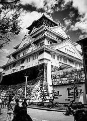 (mblaeck) Tags: japan japanese travel journey adventure blackandwhite bw monochrome osakacastle osaka caslte tree plants japanesearchitecture architecture