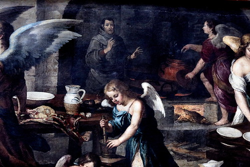 IMG_8510M Bartolome Esteban Murillo. 1618-1682. Séville    La cuisine des Anges.  The kitchen of Angels. 1646.    Louvre