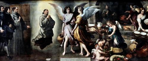IMG_8510L Bartolome Esteban Murillo. 1618-1682. Séville    La cuisine des Anges.  The kitchen of Angels. 1646.    Louvre