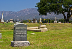 Go West... (BrilliantBill) Tags: canon santabarbara santabarbaraca graves grave cemetery santabarbaracemetery california gravestone gowest restingplace