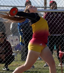 "Brush Beetdigger Mattie Singley finished fifth in the discus, with a season best of 99' 10"".  - PLDL5013 (Paul L Dineen) Tags: 5schools teams sports brushbeetdiggers 201905 2019 dates 20190510 otherplaces places sterling gender coed level varsity prairiemustangs types track"