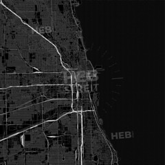 [Dark Maps] [U.S.A.] Black downtown map of Chicago, Illinois (Hebstreits) Tags: american area atlas background black chi chicago concept design detail geography graphic hebstreit high highresolution highquality highres highways illinois image interstate large major map minor much paths pattern pdflicense rail region roads sign states streets symbol template texture tourist track travel trip united urban usa vacation vector very waves