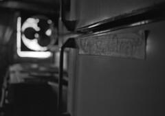 R/V Arctic Discoverer #8 (PositiveAboutNegatives) Tags: leica slr leicaflex leicaflexsl leitz 35mm 35mmelmarit film analog bw blackandwhitefilm japancamerahunter400 rodinal standdeveloping coolscan rvarcticdiscoverer abandoned empty derelict ship vessel iscebreaker