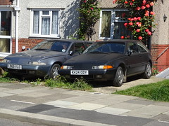 1993 & 1992 Volvo 480 (Neil's classics) Tags: vehicle 1992 1993 volvo 480 abandoned car