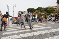 Rome : Les nouveaux barbares #3 (Paolo Pizzimenti) Tags: rome architecture barbare eur paolo olympus penf zuiko 12mm f2 film pellicule argentique