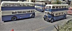 Samuel Ledgard Buses Pass By The Garage. (ManOfYorkshire) Tags: model bus buses federation stand derby 2019 exhibition modelrailway oogauge 176 scale samuelledgard ledgards diecast diorama mbf modelbusfederation otley horsforth blue